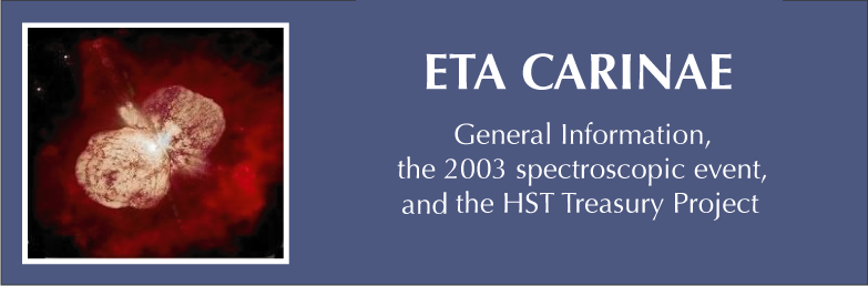 ETA CARINAE: General information, the 2003 spectroscopic event, and the HST Treasury Project